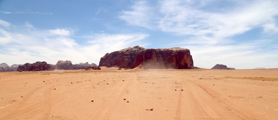 Wadi Rum Desert,southern Jordan 60 km to the east of Aqaba