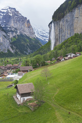 Lauterbrunnen valley in the Bernese Alps, Switzerland.