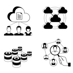 cloud computing concept, people network