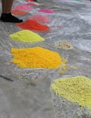 mandala of colored salt