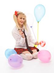 characterized woman schoolgirl