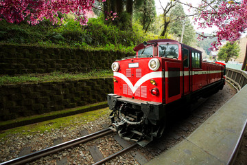 Traditional Train Run in Alishan Train