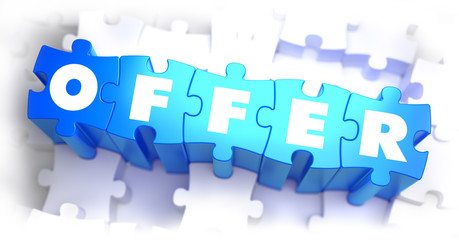 Offer - Text on Blue Puzzles.