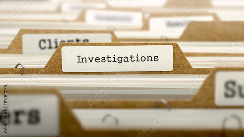 Investigations Concept with Word on Folder. - 81384035