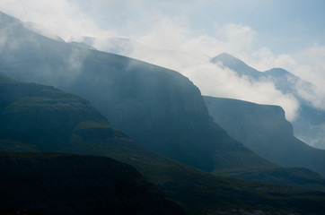 Misty mountains, Pyrenees