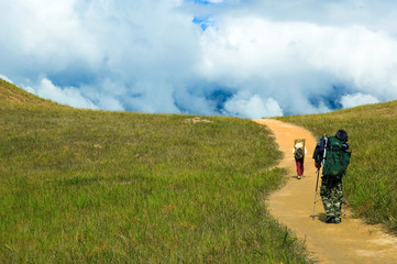 Walking to the Mt.Roraima
