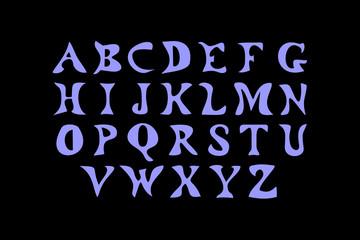 Vector illustration the Latin alphabet