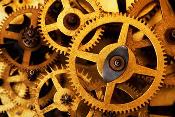 Grunge gear cog wheels background. Industrial science, clockwork