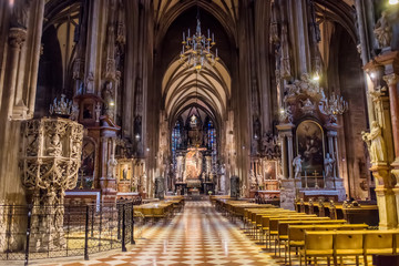 Interior of Stephansdom, Vienna