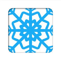 Icono estrella hielo recortado