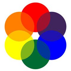 Icono gama de colores circular