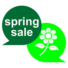 Icono texto spring sale con flor