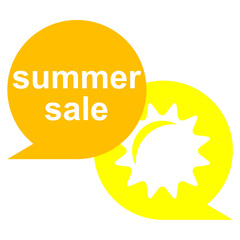 Icono texto summer sale con sol