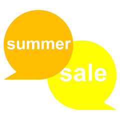 Icono texto summer sale