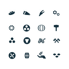 set of agriculture, farm icons
