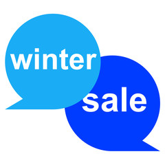 Icono texto winter sale