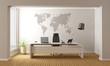 Leinwandbild Motiv Minimalist office