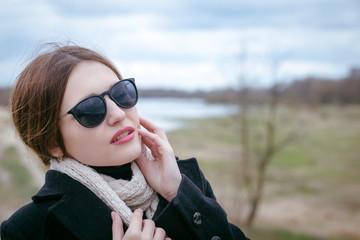 fashion woman in sunglasses