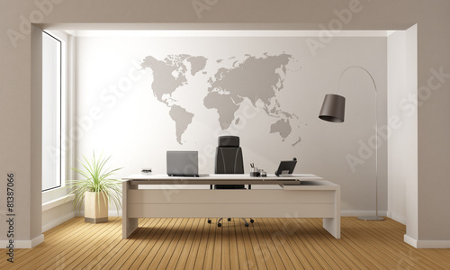 Minimalist office - 81387066