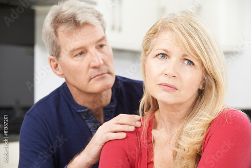 Mature Man Comforting Woman With Depression - 81387201