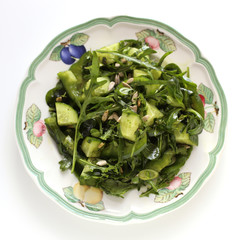 Green salad with Kürbiskernöl
