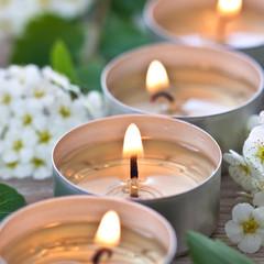 Wellnes. Burning candles