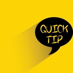 quick tip message