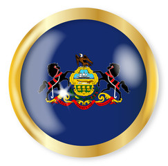 Pennsylvania  Flag Button