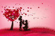 Two enamored under a love tree - 81388485