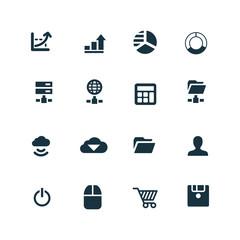 development, soft icons set