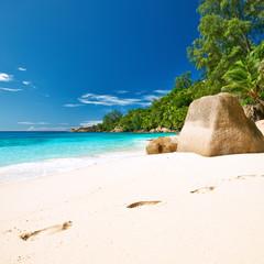 Beautiful Anse Intendance beach at Seychelles