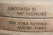 """Leinwanddruck Bild - Sonnengesangstrophe """"Erde""""  des Franz von Assisi"""
