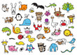 Kid's drawings of animals - 81391653