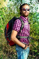backpacker boy