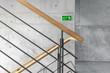 Leinwanddruck Bild - Treppenhaus Notausgang