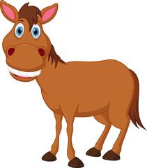 Happy horse cartoon
