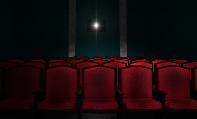 Illustration of an Empty Movie Theater