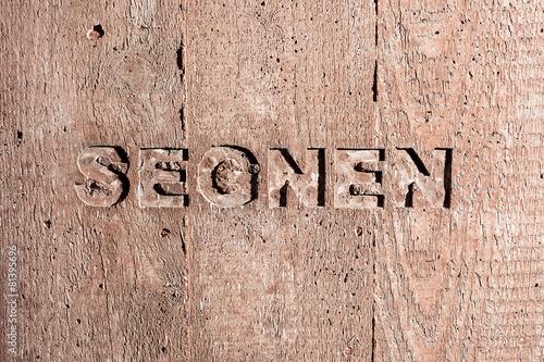 """Leinwanddruck Bild Impulswort """"SEGNEN"""" am Brunnen im Klarahof Kollegium Stans"""