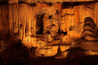Limestone formations in the Cango caves