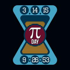 Pi Day T-shirt Typography Graphics, Vector Illustration