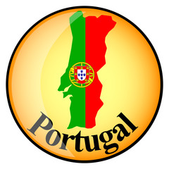 orange button with the image maps of Portugal