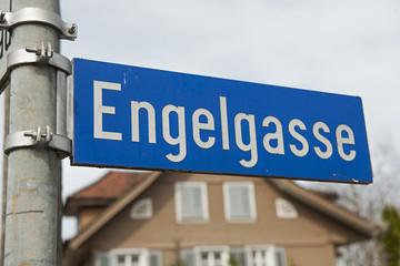 "Wegschild: ""Engelgasse"""