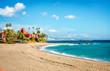 Leinwandbild Motiv Picturesque coast in Benalmadena town. Malaga, Spain