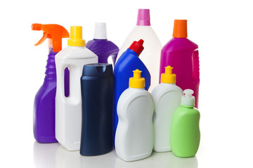 Multiple house cleaning products