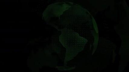 World map green color transparent
