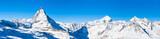 Panorama view of Matterhorn and Weisshorn - 81400291