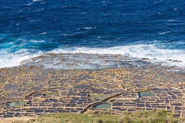 island of Gozo, salt marshes