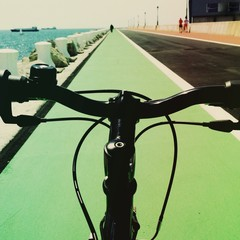 bycicle on the road