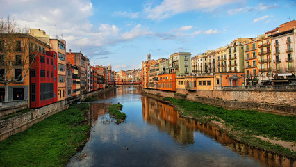 View of famous Catalonia city Girona