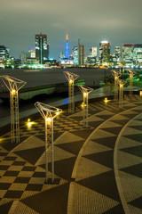 東京湾・晴海ふ頭公園の夜景